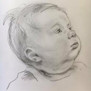 Baby in charcoal 2