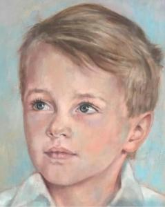 Painting of young boy