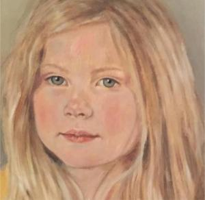 Painting of young girl